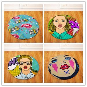 Big lips Round Tapete For Living Room Bedroom Home Decor Carpet Rug Children Kids Soft Play Mat