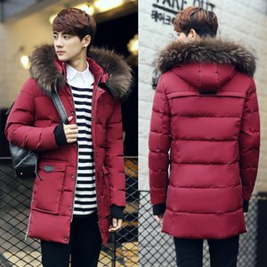 2019 Korean winter jacket male long section of thick loose big yards young student Nagymaros collar down jacket
