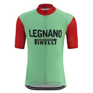retrò ciclismo jersey Classic Pro Team Green Bike rosso shirt uomo manica mtb bici da strada vestiti breve usura Quick Dry antisudore 100% poliestere