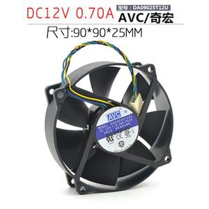 AVC 9025 12 V 0.40A DA09025T12U 9 CM 4-fio PWM ventilador de CPU de controle de temperatura inteligente