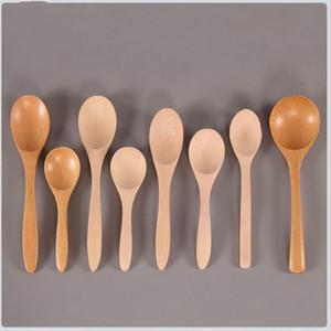 I nuovi cucchiai di legno di grandi dimensioni a manico lungo cucchiaio bambini cucchiaio di legno Zuppa di riso dessert cucchiaio Coffer Tea miscelazione da tavola
