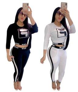 Frauen-Marken-Hoodies + Legging Sport Fall Kleidung Outfits Pullover + Leggings Anzug Bodycon Sport-beiläufige 2 Stück Anzug Set 1678