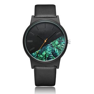 Mode Tropical Jungle Design Montre Hommes Femmes Unisexe Unique Quartz Montre-Bracelet Pour Dames Creative Sport Hommes Montres Horloge Cadeau