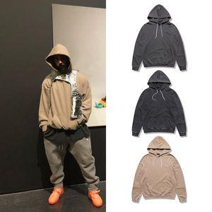 Mens Hoodies alta Street Style Hip Hop Oversize solto Camisola encapuçado Streetwear com 3 cores Asiático Tamanho M-XL