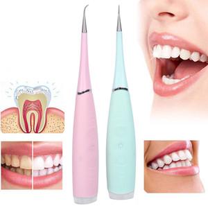 Vibrition de Sonic raspador dental USB Recarga Eletric Cepillo de dientes Cálculo removedor de manchas de sarro de los dientes más limpios herramienta Blanquear