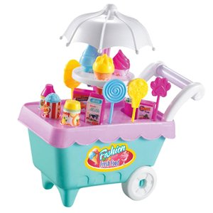 19pcs Ice Cream Корзина Магазин Playset ж / Музыкальные огни, Детские пластиковые Притворитесь Play игрушка в подарок