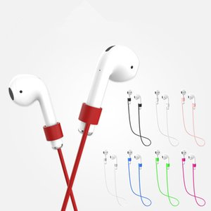 Anti-perdida Strap Para Airpods sem fio Bluetooth fones de ouvido Fones de ouvido de silicone laço corda Para ar Pods fone de ouvido Acessórios