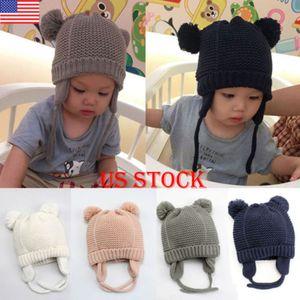 Нас новый зимний Baby дети девушки парни теплые шерстяные капюшон капюшон шарф шапки шляпы