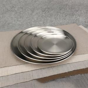 스테인레스 스틸 디너 접시 플랫 플레이트 주방 식기 식기류 식당 식기 세척기 주방 접시 무료 배송 WX9-1457
