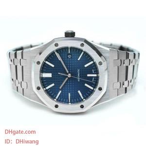 Luxo Mens Watch topo Automatic relógios mecânicos 15400 modelo desportivo de aço inoxidável Orologio di lusso assistir luminosa relógio de pulso à prova d'água