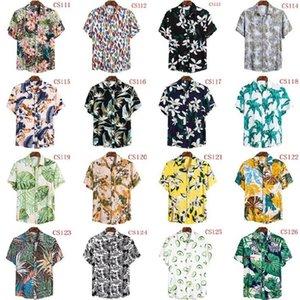 Men's Polos 2021 Shirts Men Hawaiian Camicias Casual One Button Wild Printed Short-sleeve Blouses Tops