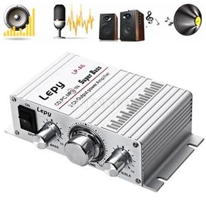 10pcs / Lot LP - A6 Lepy Mini 2 canales estéreo de alta fidelidad de audio para autos Inicio de salida del amplificador de energía para el teléfono móvil de la venta caliente