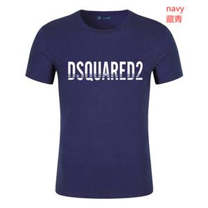camisas de los pantalones vaqueros para hombre rayada T EE.UU.dsq2 verano bordado de la manera diseñador camisetas de manga corta Tops Ropa