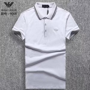New Designer Polo Shirts Men Casual Polos Fashion Letter Print Embroidery T Shirt High Street Mens Cotton Polos M-3XL