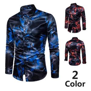nueva personalidad de la moda del desgaste de hombre de negocios Diseño camisa para hombre de lujo de los hombres de cultivarse manga larga camisa de color Joker Wild