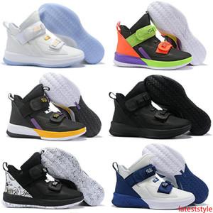 Lebron soldat 13 XIII Grade SL tonnerre Gris enfants de basket-ball Chaussures Haute Qualité James Hommes Sport Snreakers Taille 40-46