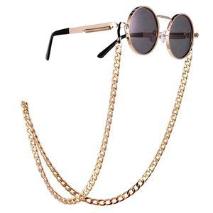 Trendy Unisex Hip Hop Punk Style Women Double-breasted Anti-Slip Chain Male Sunglasses Holder Eyewear Chain Straps Cordon Gafas
