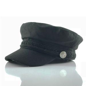 النسخة الكورية من الربيع والخريف من الصوف غطاء عسكري الرجعية القبعات قبعة رسام بطة اللسان ظلة قبعة البيسبول الأزياء النسائية