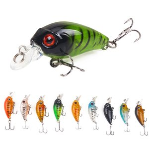 Fishing Lure Crank Little Fat 4.5 cm / 3.8g Plastica Hard Bait 9 Colori Lure Bait Artificiale Bionic Bait Fishing Tackle All'ingrosso