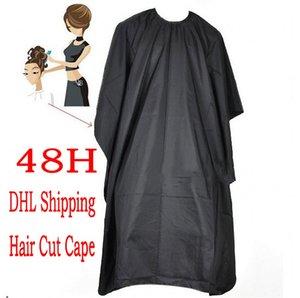 100pcs Comodo Nero Barbiere Capo Per Hair Cut Saloon Dress saloni abito panno Styling Strumenti di parrucchiere Supplies FY4080 impermeabile