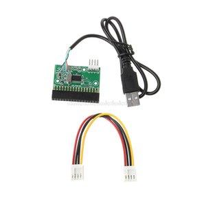 "Computador de secretária de 1,44 MB 3,5 \"" Cabo USB Adapter Para 34Pin unidade de disquete Connector U Disk Para disquete PCB Board Jy19 19 Dropship"