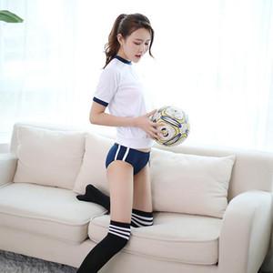 Japon Okul Üniforma Cosplay Kostüm Spor Sportwear T-şort Bloomers Cosplay Kostümleri JK Üniforma Spor Takım Elbise SH190908
