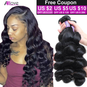 Лучшие Продажи 3 Пучки Перуанские Девственные Волосы Свободная Волна Необработанные Перуанские Свободные Волны 100 г / шт. Дешевые Бразильские Малайзии Пучки Волос Weave