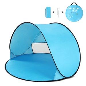 Shelter Oudoor Ultraleve Camping Tent instantâneo Up Tent Baby Beach Camping Caminhadas anti-UV Sun Para Pesca Caminhadas