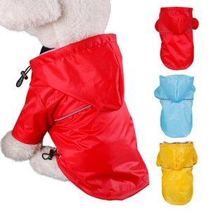 Puppy Pet Rain Jacket Pet Reflective Raincoat été en plein air Manteaux PU imperméable pour Chiens Chats Vêtements en gros S-XXL