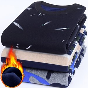 Plus velvet Sweater Men Casual O-Neck Pullover Men Clothes 2020 Autumn Winter New Arrival Top Sost Warm Mens Cashmere Sweaters