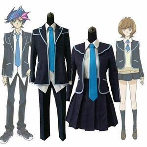 Yu-Gi-Oh VRAINS Юсаку Fujiki Zaizen Aoi School Uniform Set Косплей Костюм