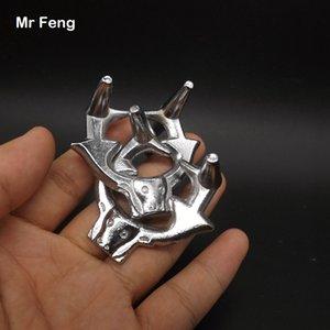 Серебристый литой головоломка бык пряжка IQ тизер мозга тест металлическое кольцо головоломка игрушка ребенок трюк игра ( номер модели H227 )