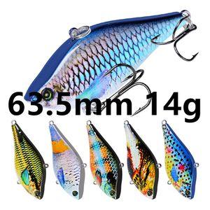 Mixed 6 colori 63,5 millimetri 14g VIB ganci di pesca ami 6 # gancio duro adesca i richiami B-025