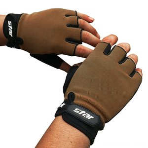 Men Fashion Antiskid Cycling Bike Fitness Sports Half Finger Winter Warm Cotton Soft Gloves & Mittens Hats, Scarves & Gloves