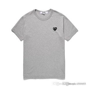 Top Qualität 19SScomme des Art und Weise Mens designerss T-Shirts rotes Herz-T-Shirts Sommerfrauen arbeiten Baumwolle T-Shirt Männer garcons