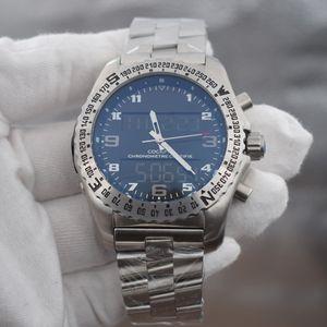 2020 NEW 1884 Professional은 듀얼 타임 존 시계 전자 포인터 표시 MONTRE 드 럭셔리 손목 시계 메탈 시계 망