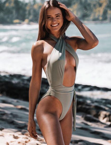 Bikinis eingestellt einem Stück großen Ring hohlen sexy Schwimmverband Blase Hülse Grube Stoff Ring exquisite Naht yakuda Damen Mädchen Spleißen hart