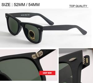 도매 TOP 새로운 도착 빈티지 사각 52mm의 54mm 여성 선글라스 UV400 디자이너 브랜드는 오리지널 레트로 유리 렌즈 태양 안경 2140 gafas