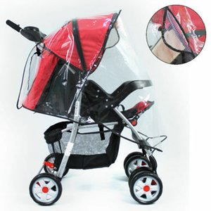 Waterproof Rain Universal Cover Wind Shield Ventilated Stroller Pushchairs Buggy Transparent Polyester Nylon Rain Cover