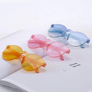 Regalo Guangdu gafas de sol para niños niños de la Ronda de la vendimia de la jalea coloreada vidrios de Sun de las muchachas de los niños de Interés Eyewear UV400