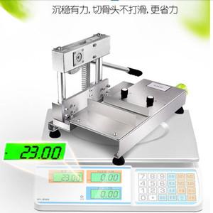 Manual Bone Machine guillotina cortador de la carne especial Comercial en acero inoxidable corte de hueso máquina Bone Saw