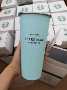 2020 INS classic Starbucks stainless steel mug desktop mug with lid coffee cup fashion couple sippy cup