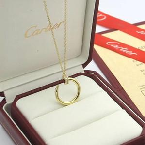 Mode-Anhänger Designer-Halskette Brief Frauen Männer Halskette Kristalldiamant Luxurys Halsketten-Dame Jewelry Geschenk Bester Cartier y