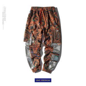 UNCLEDONJM Streetwear Kamuflaj Kargo Pantolon Erkekler 2020 Erkek Hip Hop Koşucular Pantolon Erkek Cepler Parça Sweatpants Trouse mo - 0936