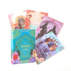 Cartão Deck A Yogic Path Oráculos e eletrônico Guia Tarot Jogo Toy Tarot adivinhação Guia Antiga Yogic sabedoria