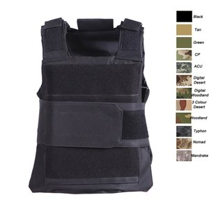 Sport all'aperto Camouflage Outdoor Body Body Body Body Combat Assalto Gilet Tactical Molle Glest Plate Plate Vest SO06-009