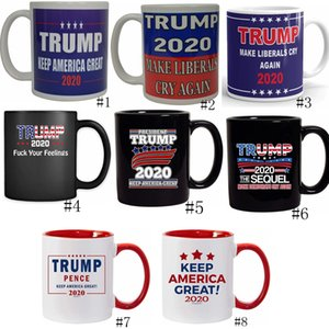 Trump mugs à café élection E.U.A. Faire Amérique Trump Grande Céramique Milk Cup Coffee Donald Trump Handgrip Coupes en céramique GGA3152-3