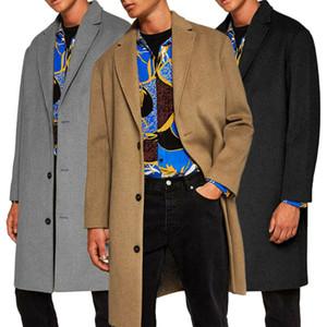 Miscele di lana da uomo Trench Coat Winter Warm AddShen Jacket Peacoat Long Outbeat Outwear Tops