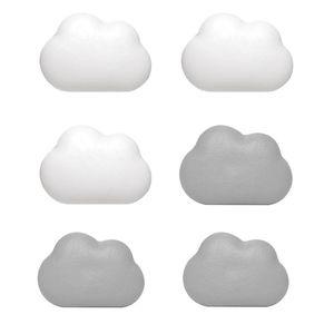 Ímãs 6PCS Imã Nuvem ABS magnética bonito adesivos imã para escritórios domésticos de cozinha Frigoríficos Magnetic Sticker
