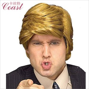 Branded Trump wig Golden Donald President wig men's short straight hair Trump wig